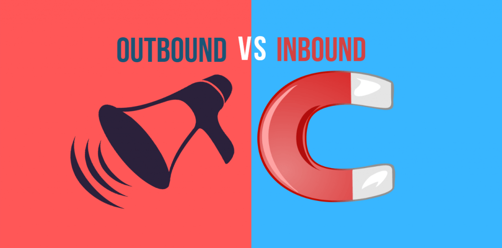 Différence entre Inboud  et Outbound marketing